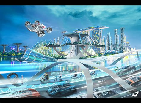 ArtStation - Futuristic Singapore, SmokedShip