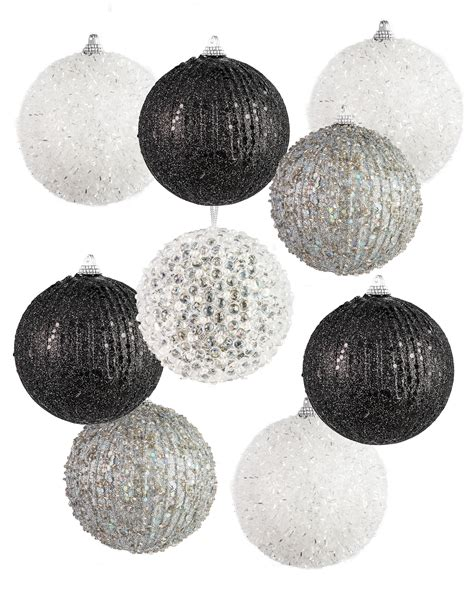 black and white christmas ornaments formally yours black and white christmas ornament set treetopia
