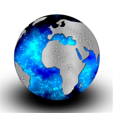 sparkling crystal globe psd layered