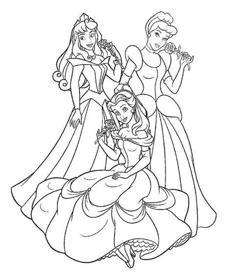 gambar princess untuk mewarnai