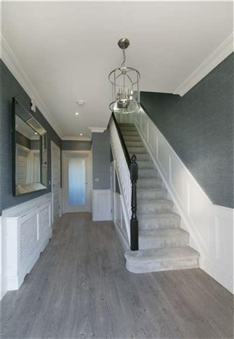 grey floor  walls grey flooring stair decor grey