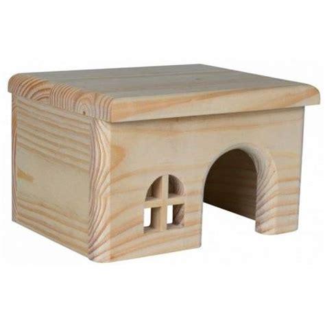 maison plate en pin pour cochon d inde pour rongeur