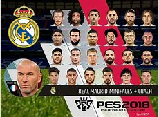 PES 2018 Real Madrid Mini Faces + Coach PC by rkh257 PES