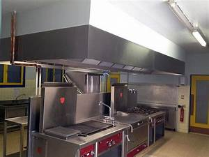 installation hotte cuisine professionnelle With hotte cuisine professionnelle sans extraction