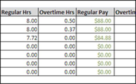 overtime hours calculator excel