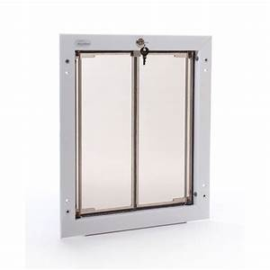 Plexidor performance pet doors 1175 in x 16 in large for Large dog door home depot