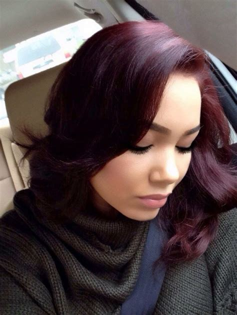 burgundy hair hairstyles hairstyle detail red hair color