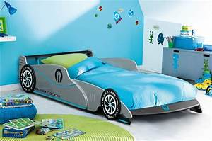Lit Voiture 90x190 : lit voiture 90x190 bleue ~ Teatrodelosmanantiales.com Idées de Décoration