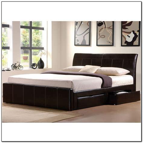 king bed frame with drawers furniture modern black king size platform bed frame with