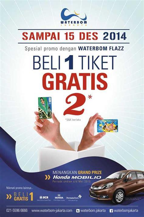 promo waterbom jakarta beli  gratis  tiket