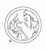 Wyvern Lineart Pages Coloring Tamer Club Deviantart sketch template