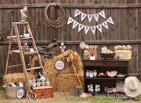 Kara's Party Ideas Classic Cowboy Boy Farm Horse Riding