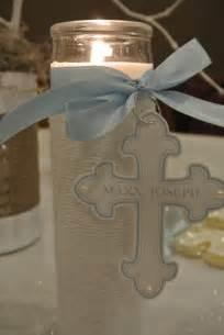 boy baptism centerpieces on pinterest baptism