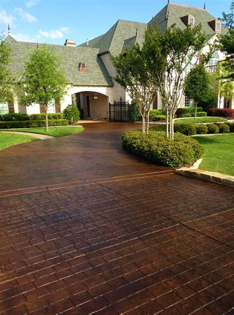 driveway styles 25 best ideas about stained concrete driveway on pinterest concrete walkway curb appeal and