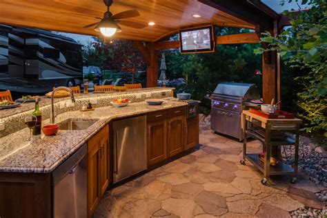 Teak Entertaining Space Outdoor Kitchen  Other  By