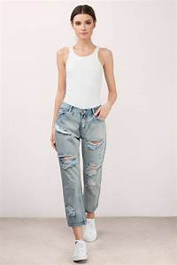 Balboa - Distressed Jeans - Boyfriend Jeans - Balboa Denim - $14 | Tobi US
