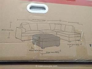 Bainbridge 3 piece fabric sectional for 3 piece sectional sofa costco