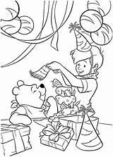 Pooh Winnie Coloring Pages Birthday Party Printable Print Getcolorings Netart sketch template