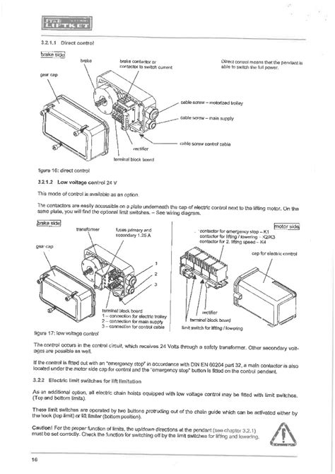 Hoist Limit Switch Wiring Diagram Gear by Manual For Liftket Electrical Chain Hoist