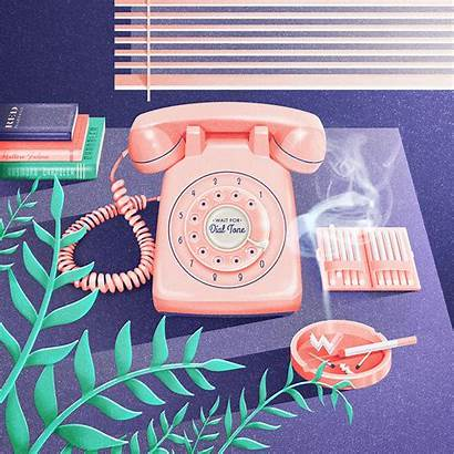 Connor Tierra Illustrations Rotary Phone Illustration Graphic