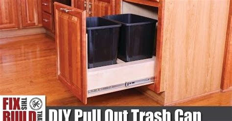 pull out trash cabinet diy pull out kitchen cabinet trash can hometalk