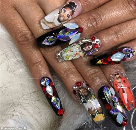 Cardi B's Grammys 2018 stiletto-shaped manicure | Daily ...