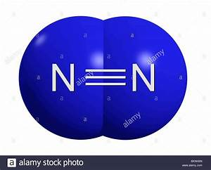 Stickstoffmolek U00fcl N2    Nitrogen Molecule N2 Stock Photo