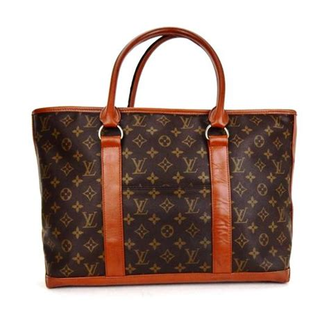 louis vuitton neverfull vintage sac weekender gm brown monogram canvas leather shoulder bag