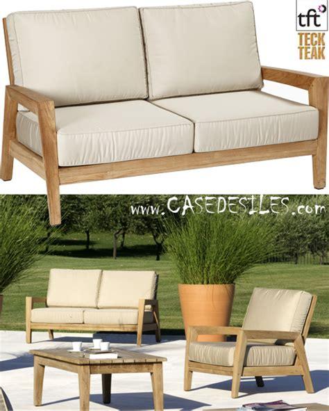 canapé en teck canape teck design canapé en teck design de jardin