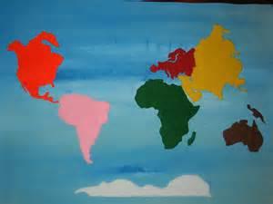 DIY Montessori Continent Map