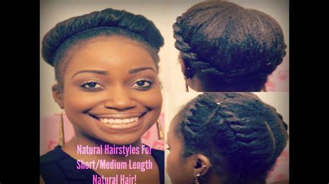 easy natural hairstyles  shortmedium length natural