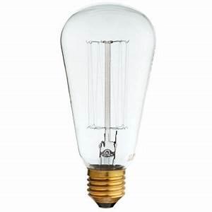 Lampe Ampoule Filament : lampe filament mtl drt e27 40w castorama ~ Teatrodelosmanantiales.com Idées de Décoration