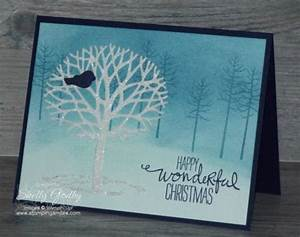 Stampin Up Thoughtful Branches Christmas Card Tutorial