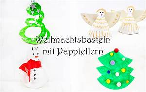 Weihnachtsbasteln Mit Kindern Vorlagen : weihnachtsbasteln mit papptellern mama kreativ ~ Watch28wear.com Haus und Dekorationen