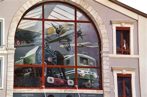 fresque murale trompe l oeil amberieu berceau du et de l aviation 187 les trompe l œil 187 vincent ducaroy fresques
