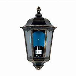 bordeaux 100w half lantern black and gold effect With homebase outdoor lighting sale