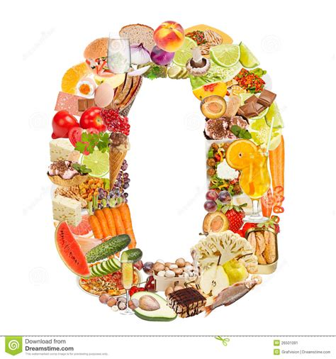 pic cuisine number 0 made of food stock image image 26501091