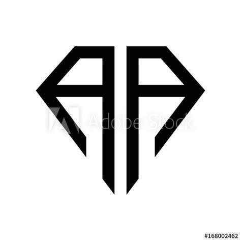 initial letters logo aa black monogram diamond pentagon shape stock vector adobe stock