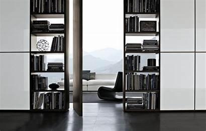 Wall System Poliform Library Furniture Through Bookshelf