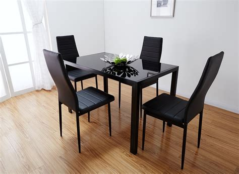 glass table  chairs set small  glass dining table