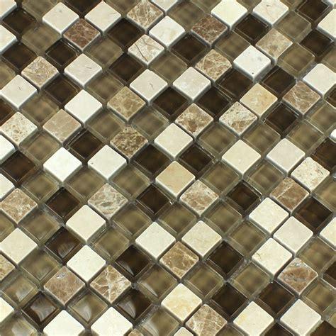 mosaic tiles glass marble brown beige xxmm