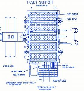 Porsche Boxter 2008 Main Engine Fuse Box  Block Circuit Breaker Diagram