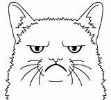 Grumpy Coloring Cat Colorir Desenhos Sketch Neo Template Brinquedos Papel sketch template