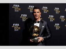 Cristiano Ronaldo wins 2013 Ballon d'Or 2013 Real Madrid CF