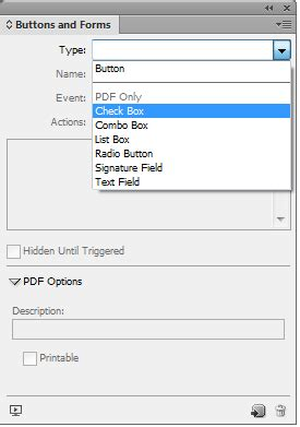 work with forms in indesign