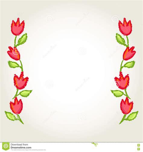 small white border flowers floral borders frame vector illustration cartoondealer com 73034276