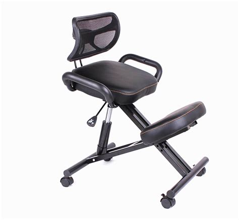 ergonomically designed knee chair with back and handle