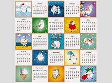 Año de la cabra 2015 Calendarios 2019 Gratis y editables