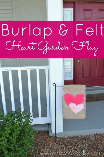 cute diy garden flag   time  valentines day