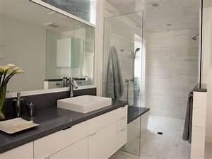 Light, Airy Contemporary Bathroom | Christopher Grubb | HGTV